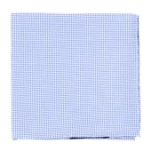 Pocket Squares - Carpenter Checks - Light Blue