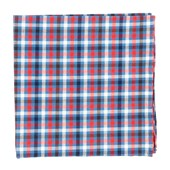 Pocket Squares - Central Station Checks - Light Cornflower