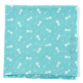 Pocket Squares - Pineapple Toss - Aqua