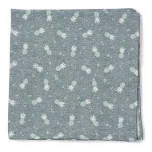 pineapple toss grey pocket square