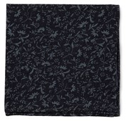 POCKET SQUARES - FLORAL FADE - MIDNIGHT NAVY