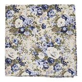 Pocket Squares - Heirloom Floral - Khaki