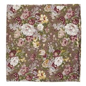 Pocket Squares - Heirloom Floral - Brown