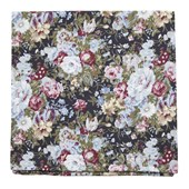 Pocket Squares - Heirloom Floral - Black