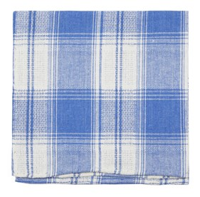 Light Blue Rancho Plaid pocket square
