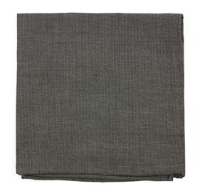 Speedway Solid Charcoal pocket square