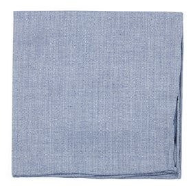 Light Blue Speedway Solid pocket square