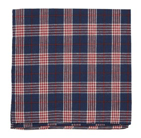 Navy Newton Plaid pocket square