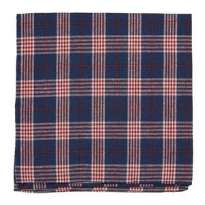 newton plaid navy pocket square