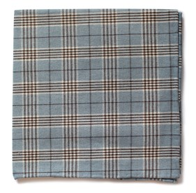 Powder Blue Newton Plaid pocket square