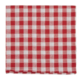 Red Trellis Plaid pocket square