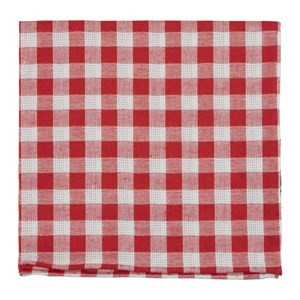 trellis plaid red pocket square