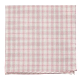 Baby Pink Mesh Plaid pocket square