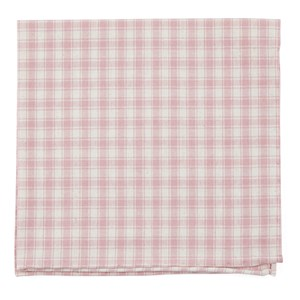 mesh plaid baby pink pocket square