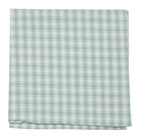 Mint Mesh Plaid pocket square