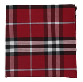 Raspberry Legion Plaid pocket square
