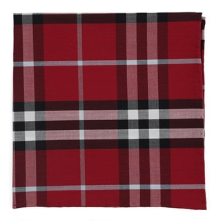 Legion Plaid Raspberry Pocket Square