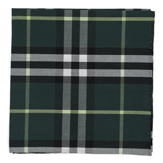 Legion Plaid Hunter Green Pocket Square