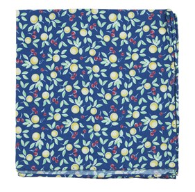 Fruit Trees Royal Blue pocket square