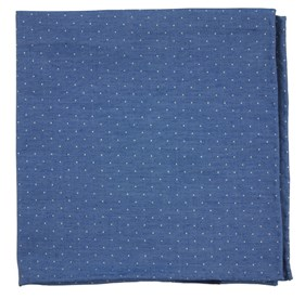 Classic Blue Cumberland Dots pocket square