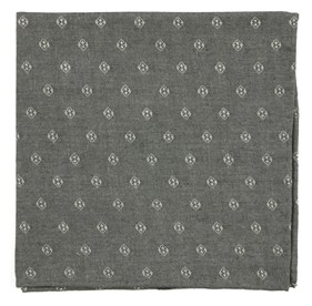 Grey Geo Stamp pocket square
