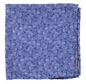 Light Blue Floral Acres pocket square