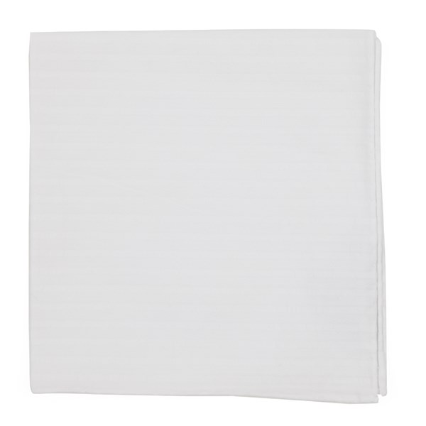White South Bay Stripe Pocket Square