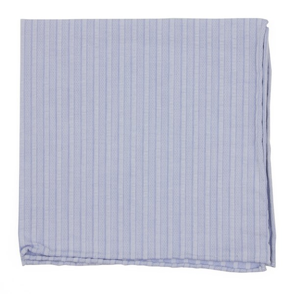 Blue South Bay Stripe Pocket Square