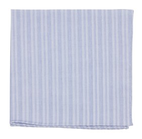 Blue North Bay Stripe pocket square