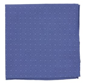 Classic Blue District Medallion pocket square