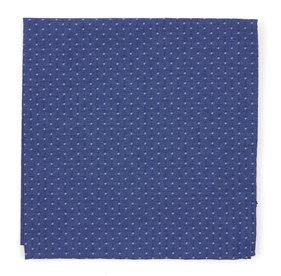 Navy District Dots pocket square