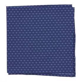 Navy District Geo pocket square