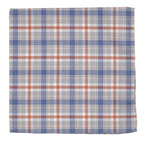 Coral Anthem Plaid pocket square