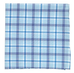 Aqua Anthem Plaid pocket square