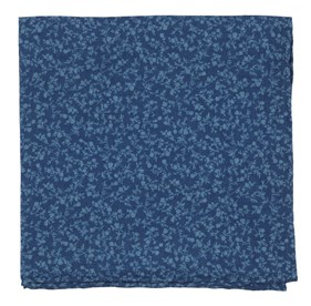 Blue Floral Webb pocket square
