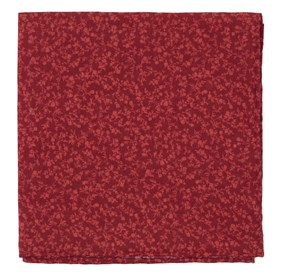 Red Floral Webb pocket square