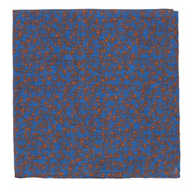 Serene Blue Floral Webb pocket square