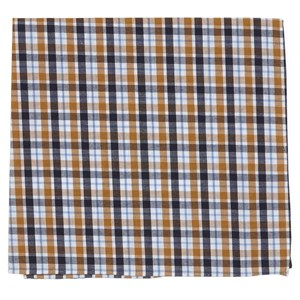 kenmore plaid orange pocket square
