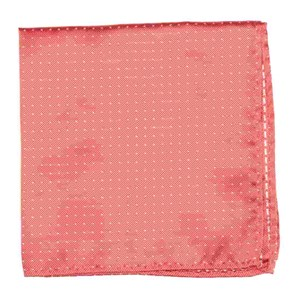 mini dots coral pocket square