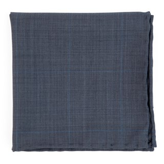 knick plaid blue pocket square
