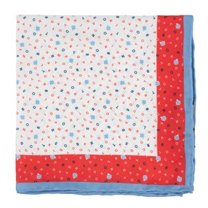 the city square - boston red pocket square