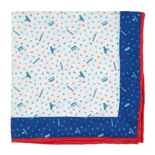 the city square - dc classic blue pocket square