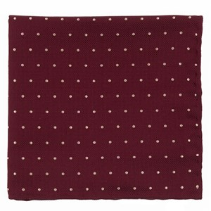 mumu weddings - dotted retreat merlot pocket square