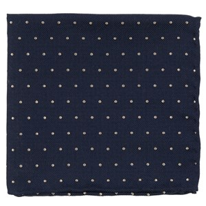 mumu weddings - dotted retreat rich navy pocket square