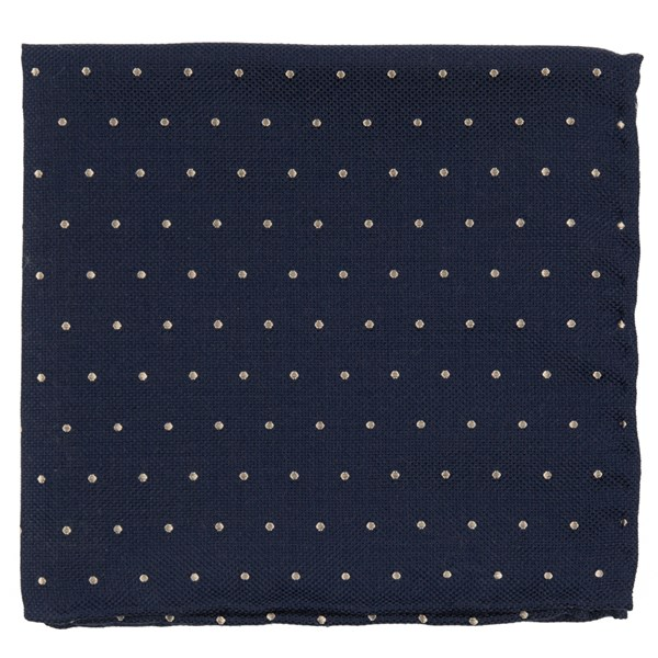 Rich Navy Mumu Weddings - Dotted Retreat Pocket Square