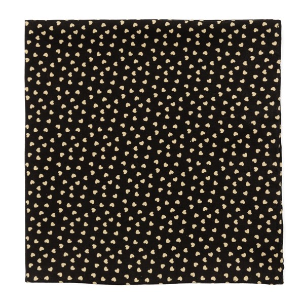 Black Animated Hearts Pocket Square