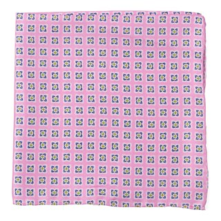 Medallion Breeze Light Pink Pocket Square