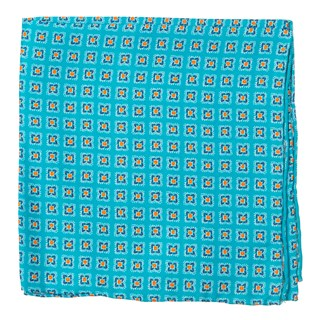 Medallion Breeze Teal Pocket Square