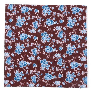Walnut Street Floral Burgundy Pocket Square