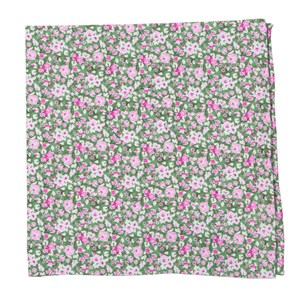 freesia floral olive pocket square